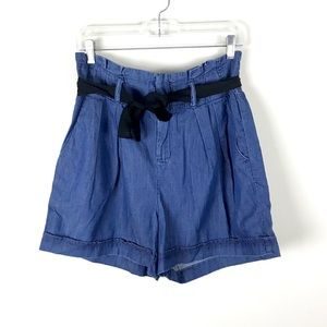 Gap | High Rise Chambray Paperbag Shorts - 28/6